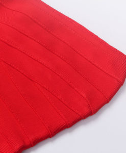 Bandage Bodycon Kleid rot