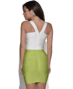 Bandage Bodycon Top weiss