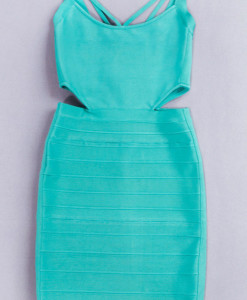 Bandage Bodycon Kleid aqua