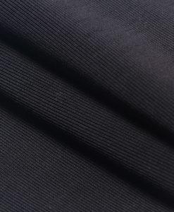 Bandage Bodycon Kleid Midi schwarz
