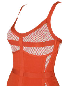 Bandage Bodycon Kleid orange