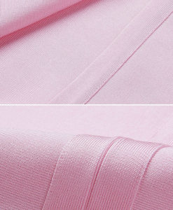 Kleid Bandage Midi rosa