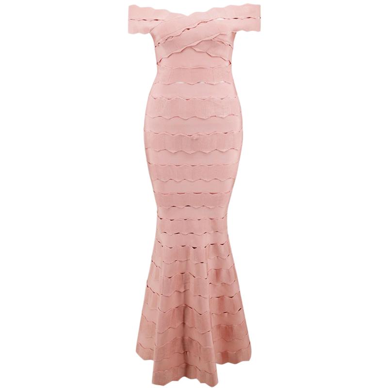 Bandage Bodycon Abendkleid in rosa