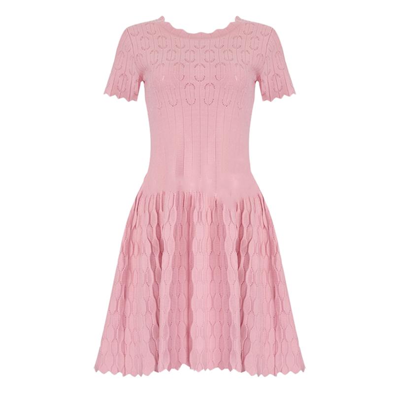 Bandage Bodycon Kleid Mini rosa