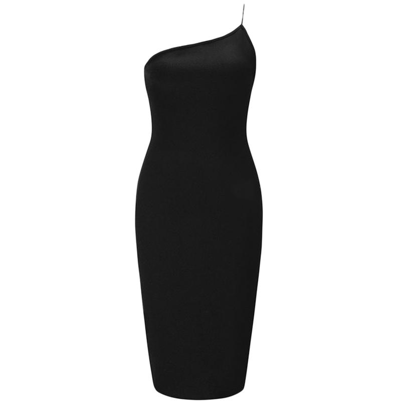 Bandage Bodycon Kleid schwarz
