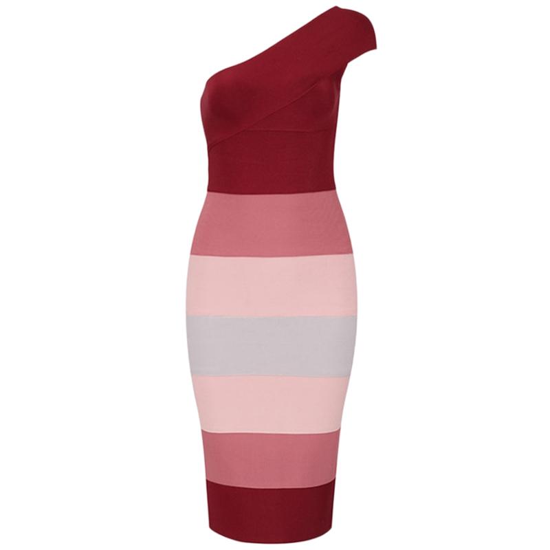 Bandage Kleid rot ombré