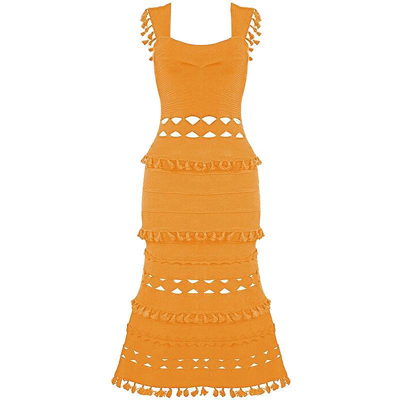 Bandage Kleid orange
