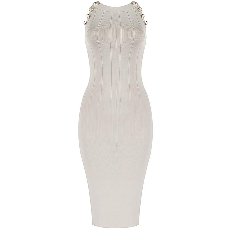 Bandage Kleid beige